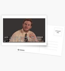 Parks & Recreation - Andy Dwyer When Life Gives You Lemons Postcards