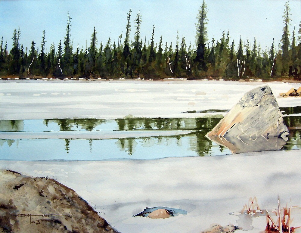 Spring Ice by Douglas Hunt