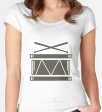 Drum illustartion Women's Fitted Scoop T-Shirt