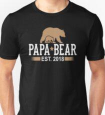 Papa Bear Est. 2018 Unisex T-Shirt
