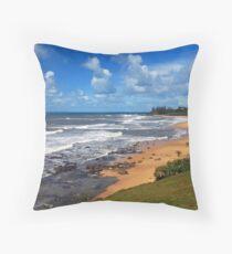 Sunshine Coastline Throw Pillow