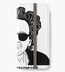 Tim Burton - Craziness quote design iPhone Wallet/Case/Skin