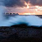 Container Ship Seascape by Alexander Kesselaar