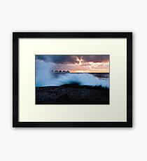 Container Ship Seascape Framed Print