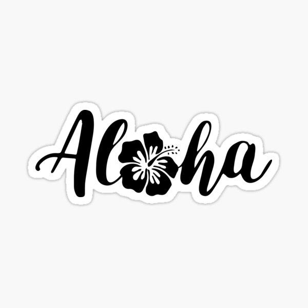 aloha stickers Sticker
