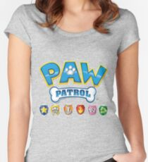 Canine patrol design Women's Fitted Scoop T-Shirt