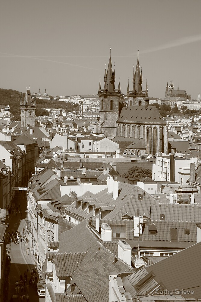 Prague cityscape by Cathy Grieve