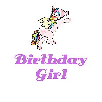 Awesome Unicorn Birthday Girl Design #13 by 198tees