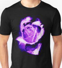 Purple Rose (Black Background) Unisex T-Shirt