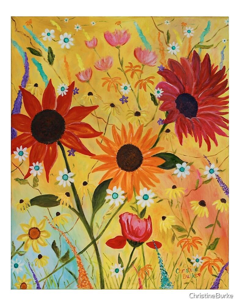 Joyful Flowers by ChristineBurke