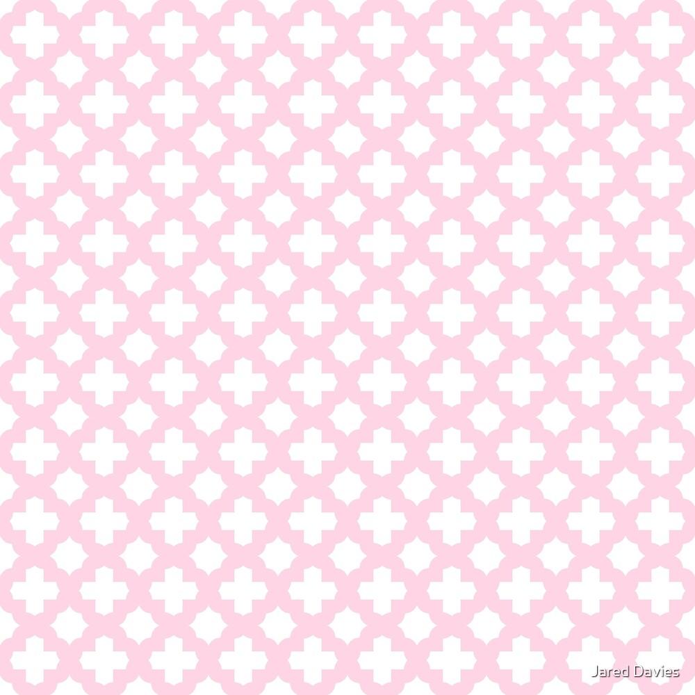 Pink, Baby: Quatrefoil Stars & Crosses Pattern by MilitaryCandA