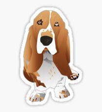 Lemon Basset Hound Dog Breed Illustration Sticker