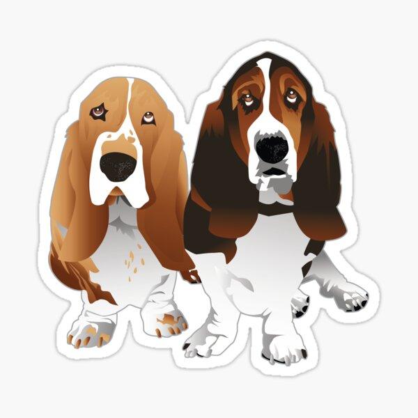 Basset Hound Dog Breed Illustration Sticker