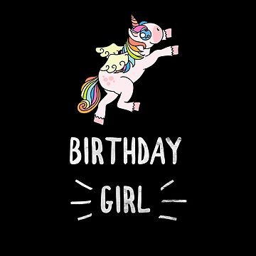 Awesome Unicorn Birthday Girl Silver Bling Design #20 by 198tees