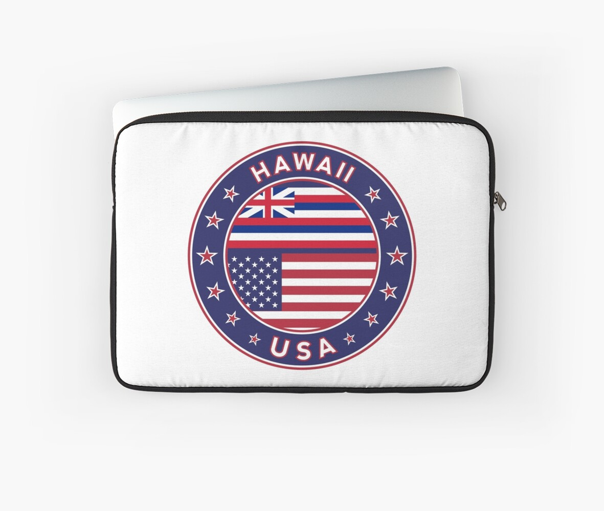 Hawaii hawaii t shirt hawaii sticker circle hawaii flag white bg