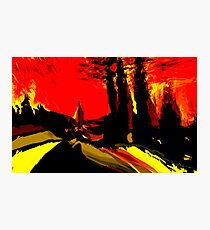 red sky.... scarlet sunset Photographic Print