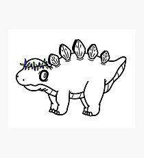 Doodle Dino Photographic Print