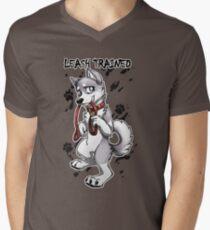 Leash Trained - Gray Husky Men's V-Neck T-Shirt