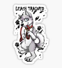 Leash Trained - Gray Husky Sticker