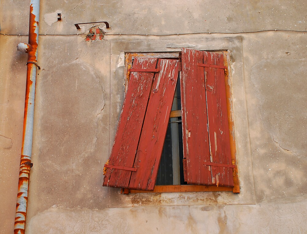 Broken Brown Shutters in Izola by jojobob