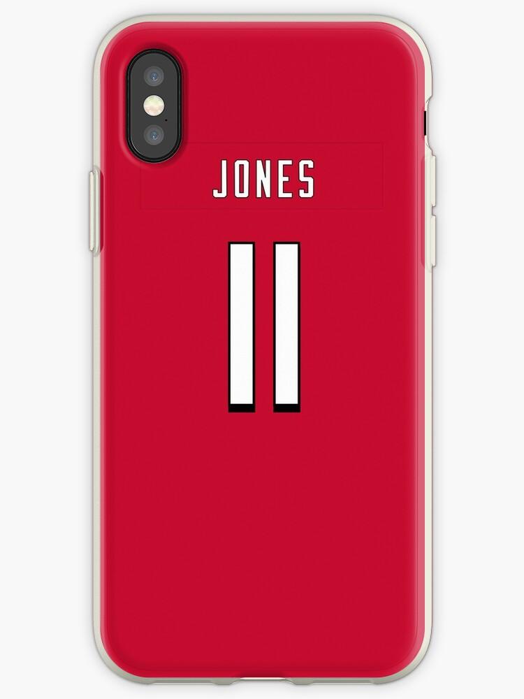 NFL Falcons Home Jersey Jones iPhone Case by jm95