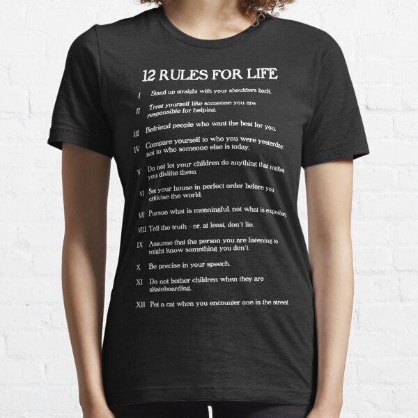 12 rules for life - Jordan Peterson Essential T-Shirt