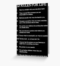 12 rules for life Greeting Card