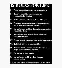 12 Regeln für das Leben Fotodruck