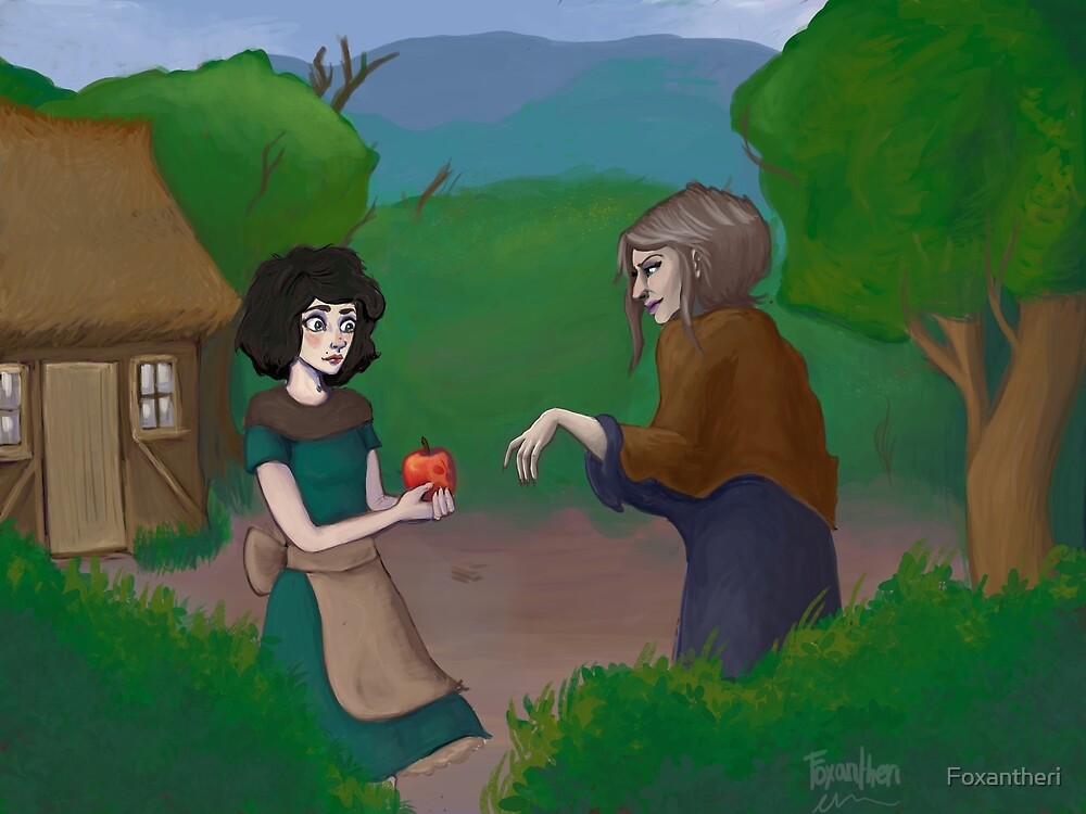 Snow White and the apple by Foxantheri