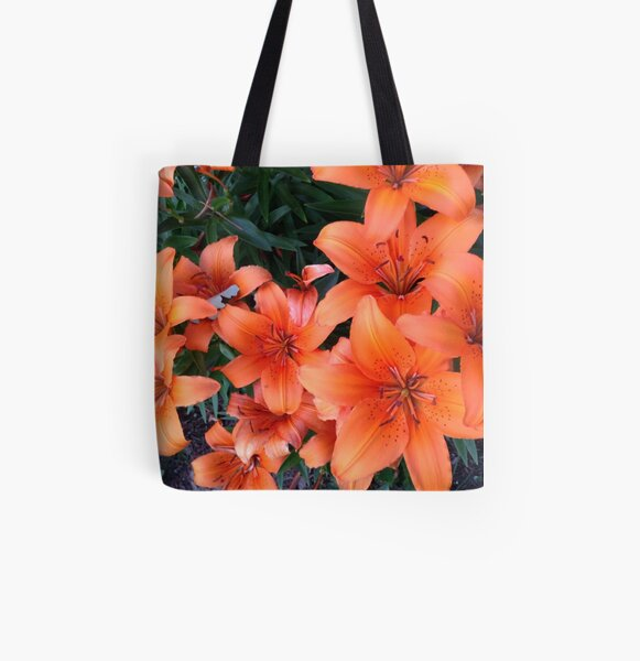 Photo of orange tiger lillies All Over Print Tote Bag