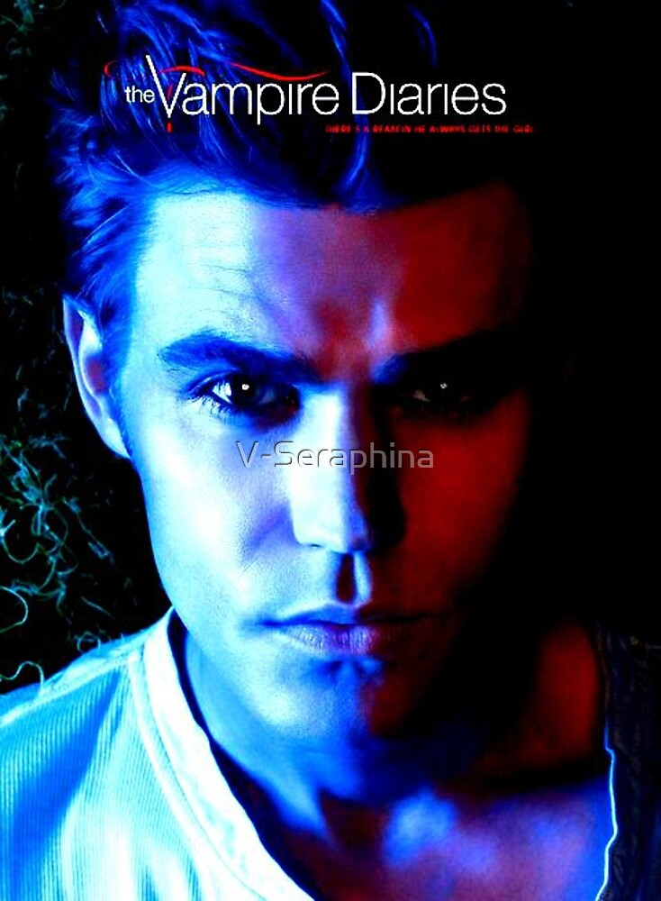 The Vampire Diaries - Stefan Salvatore - Paul Wesley  by V-Seraphina