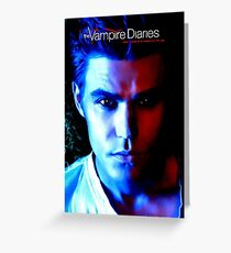 The Vampire Diaries - Stefan Salvatore - Paul Wesley  Greeting Card