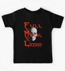 theFMLpodcast - Full Metal Lockdown (black) Kids Tee