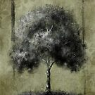 Contemporary Tree Drawing - Green by sheepincognito