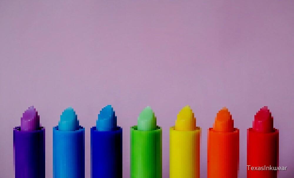 8bit rainbow color lipstick by TexasInkwear