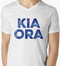 Kia Ora NZ Gift For Beach Vacation Men's V-Neck T-Shirt