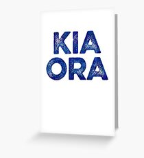 Kia Ora NZ Gift For Beach Vacation Greeting Card