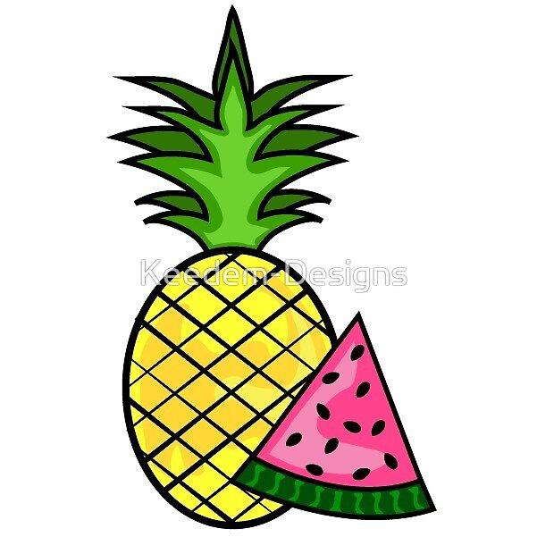 Pineapple + Watermelon = Summer by Keedem-Designs