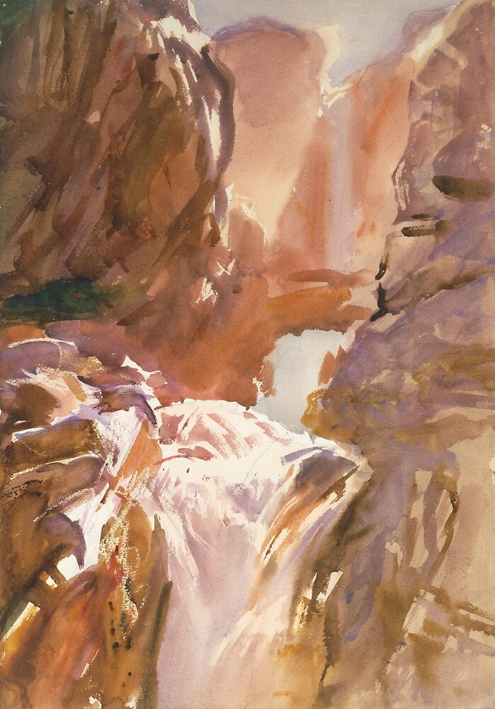 Mountain Torrent by John Singer Sargent by classicartcache