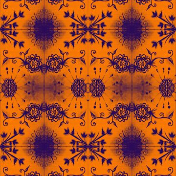 purple and orange flowers by JAZY