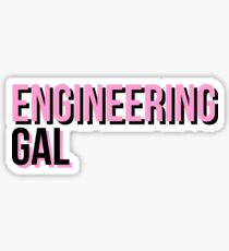 Engineering Gal in black and pink Sticker