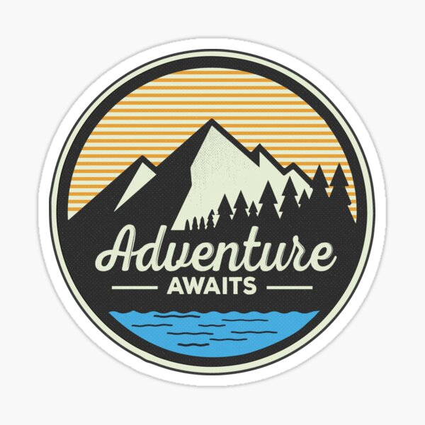 Adventure Awaits - Mountain Hiking Sticker Sticker