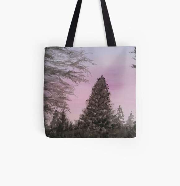 Pink Sunset All Over Print Tote Bag