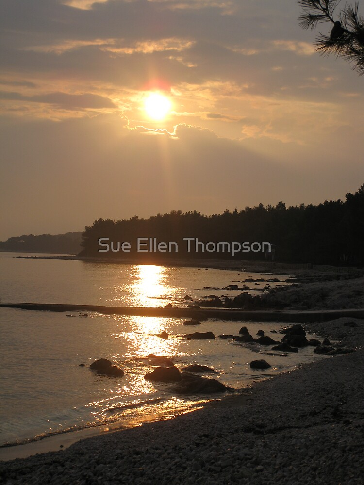 Sunset on the Adriatic Sea by Sue Thompson