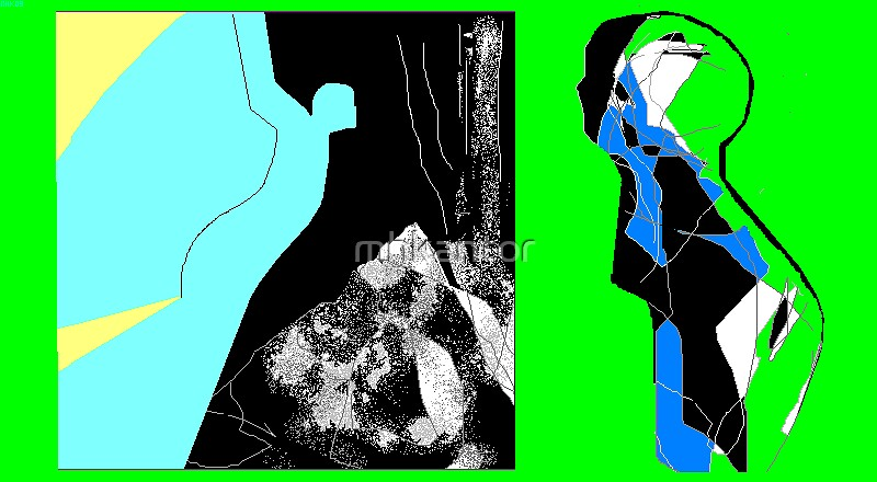 dropcloth 2 - homage to marc chagall's angels by mhkantor