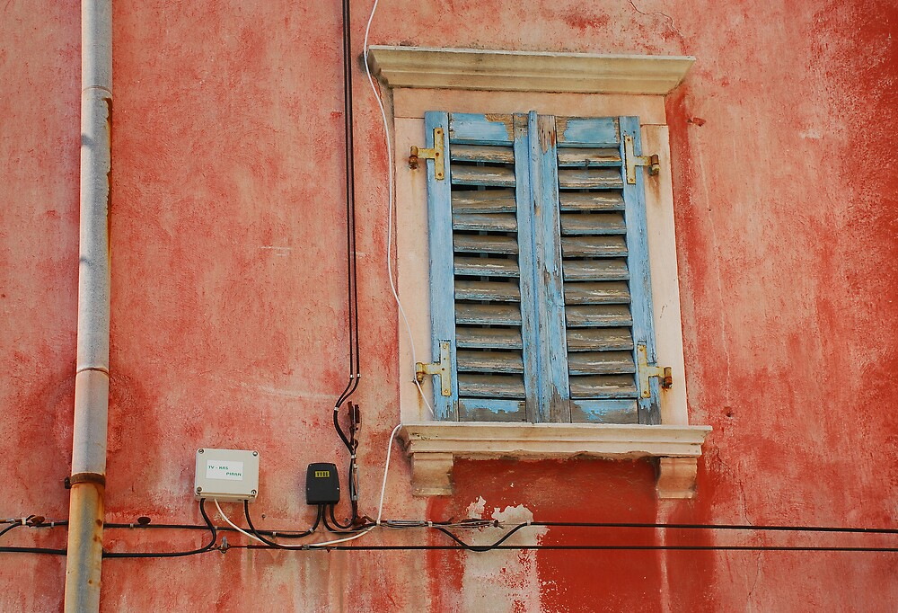 Tatty Blue Shutters in Piran by jojobob