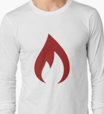 Red Fire Flame - Food Lover Foodie Long Sleeve T-Shirt