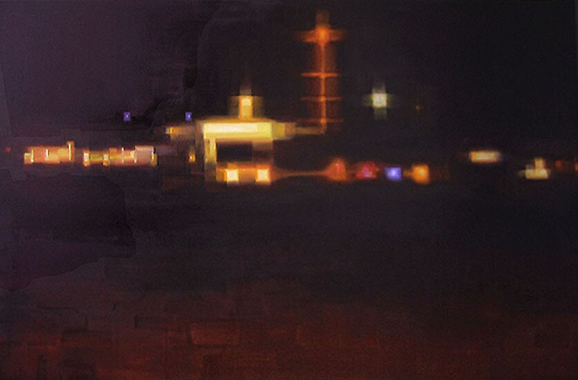 Nigthtlights 2, oil on canvas, 120 x 80 cm, 2006 by Franko Camue