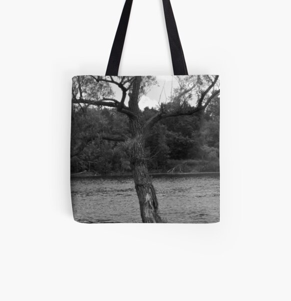 Photo of tree near water All Over Print Tote Bag