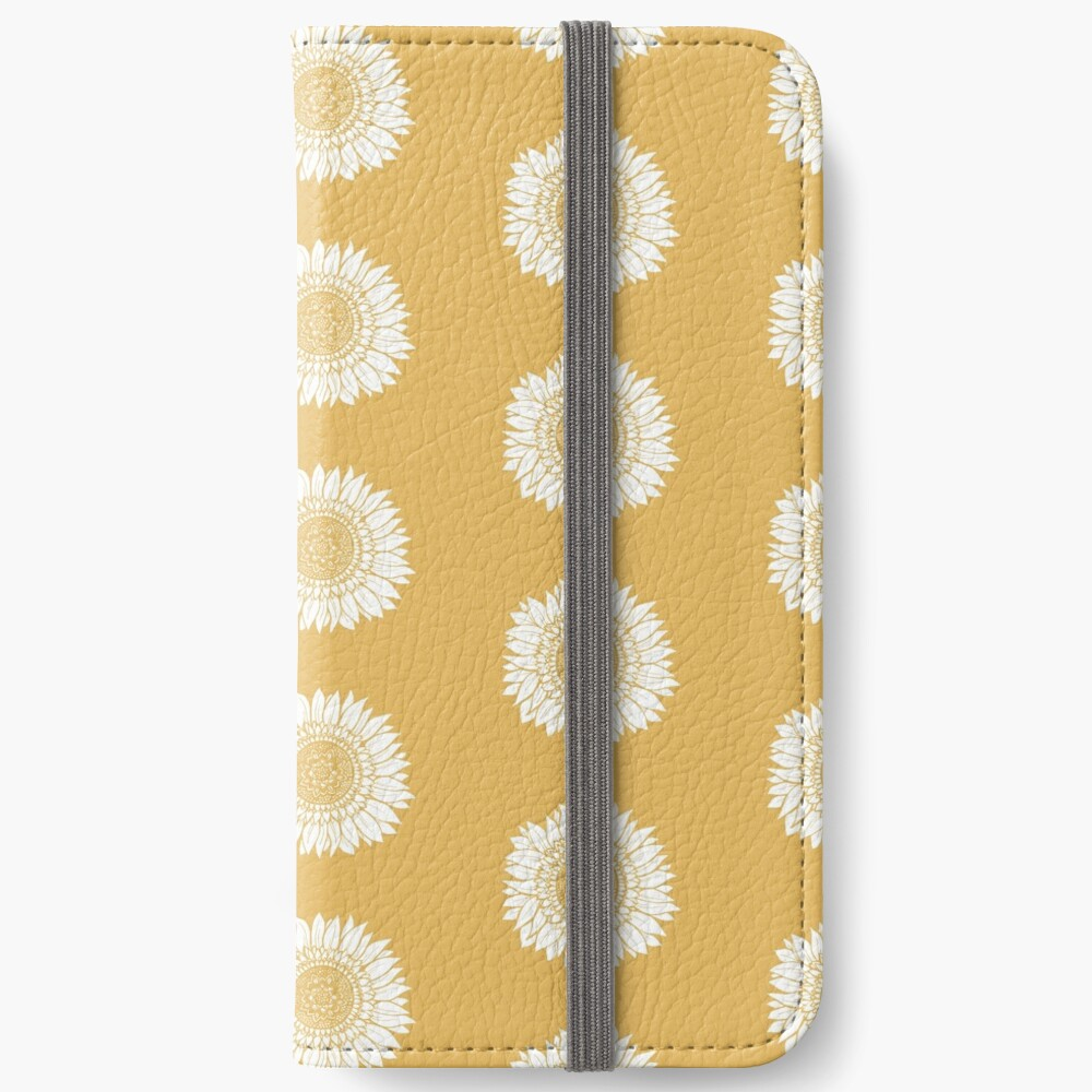 Yellow Flower Drawing Tapestry iPhone Wallet